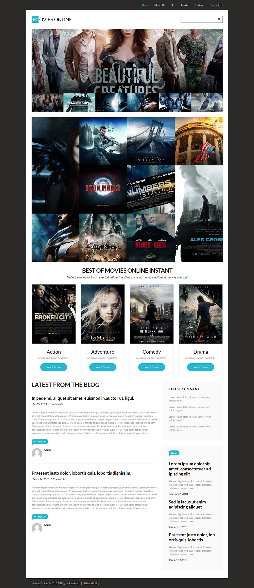 Movies Online (WordPress template) Item Picture