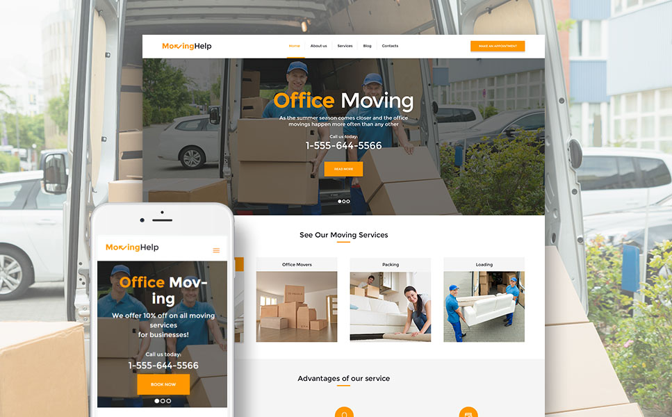 Moving Help (WordPress template) Item Picture