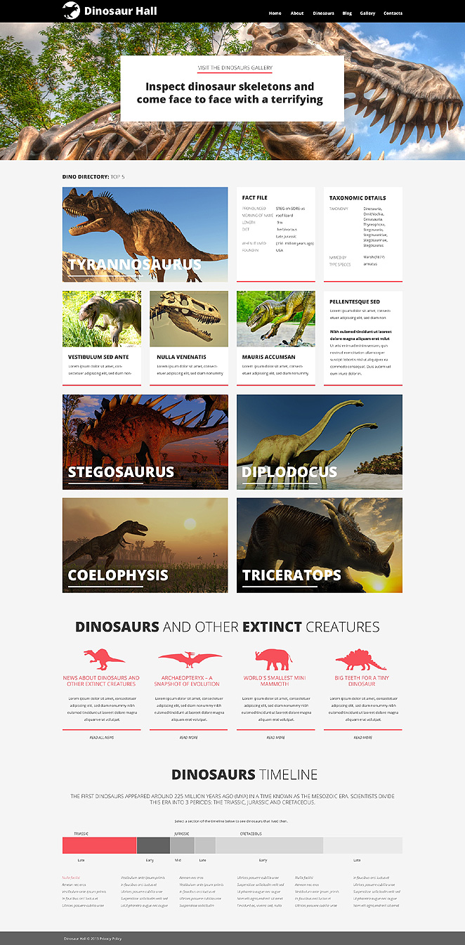 Jurassic Hall (theme for your WordPress site) Item Picture