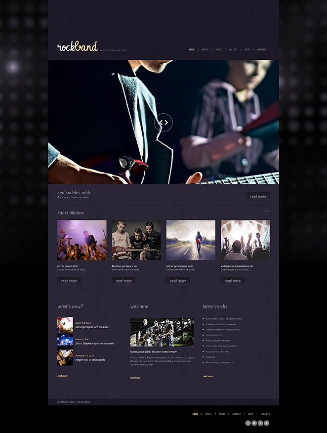 RockBand (theme for WordPress) Item Picture