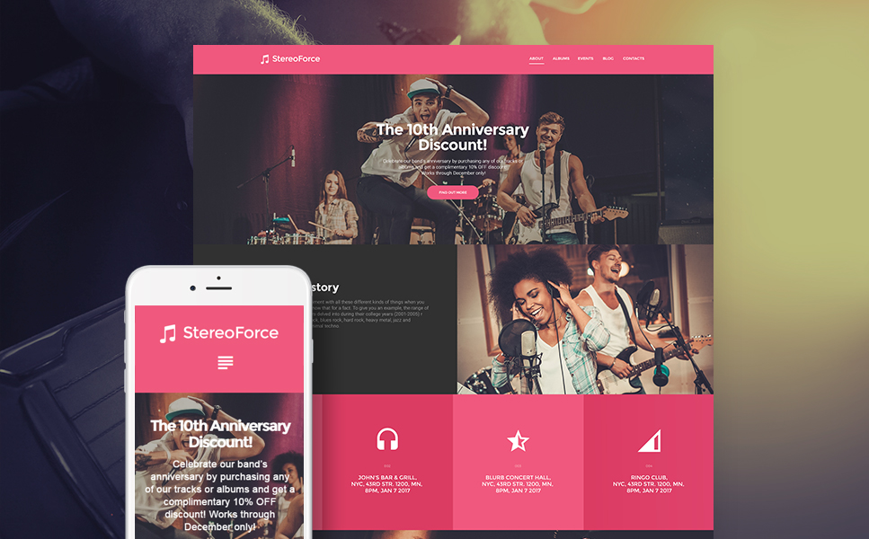 Music Group (WordPress theme) Item Picture