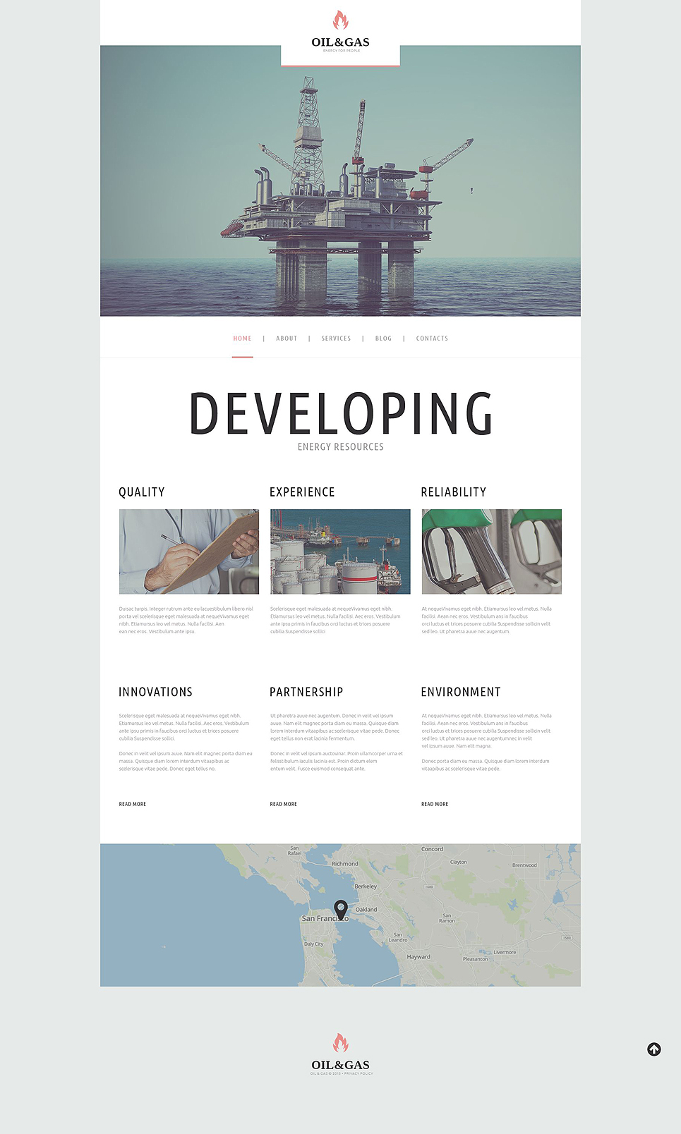 Oil Gas Company (WordPress theme) Item Picture