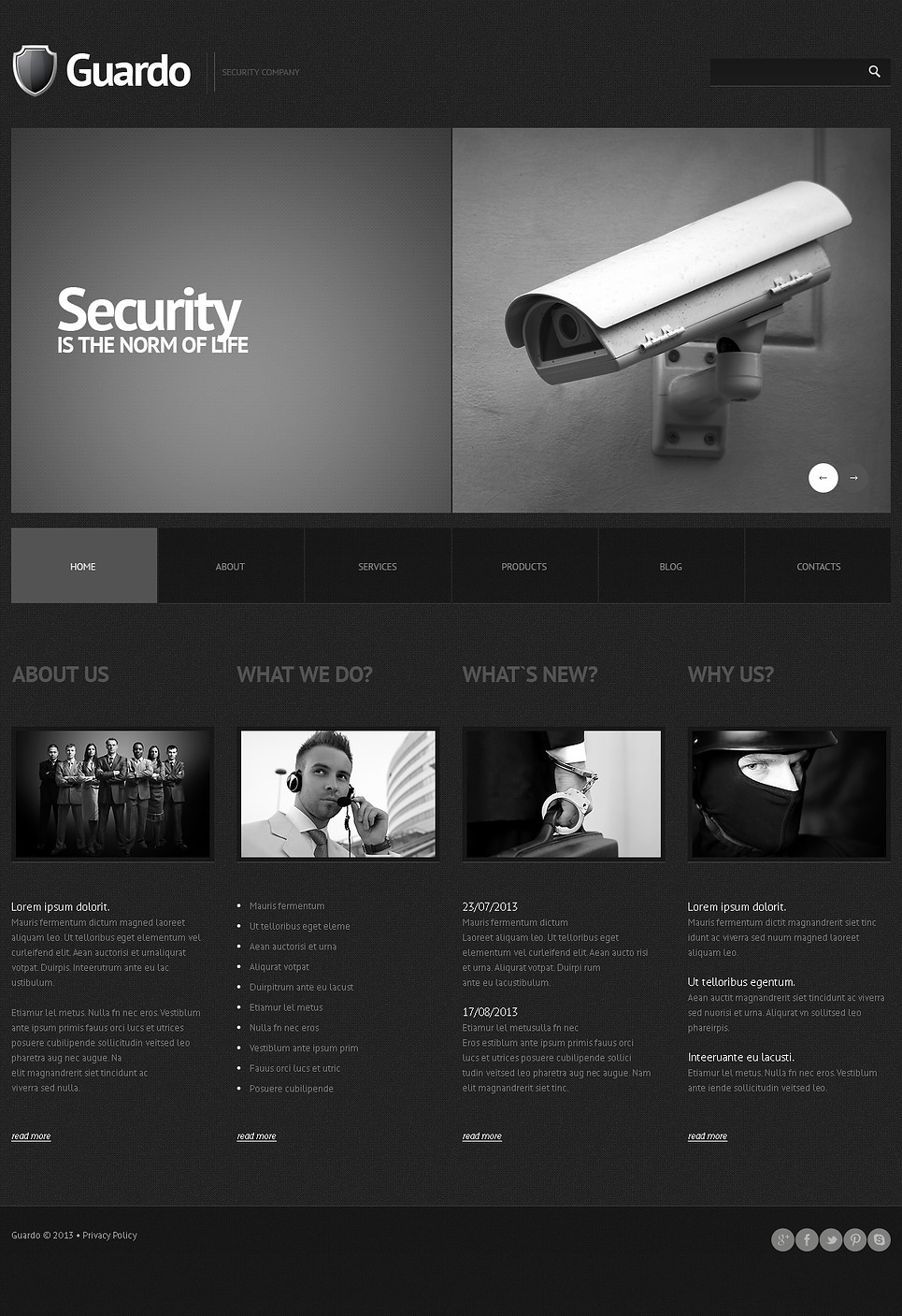Guardo Security (theme for WordPress) Item Picture