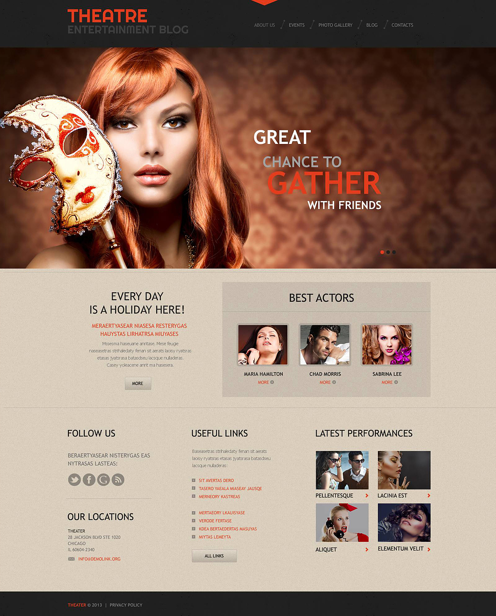 Theater Guide (WordPress template) Item Picture