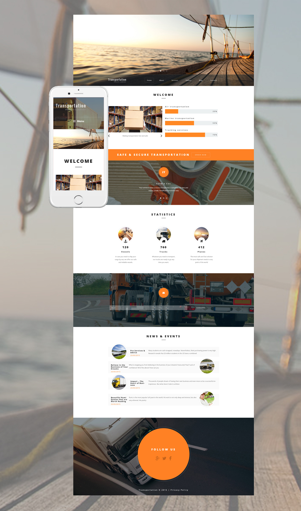 Transportation Private Company (WordPress template) Item Picture