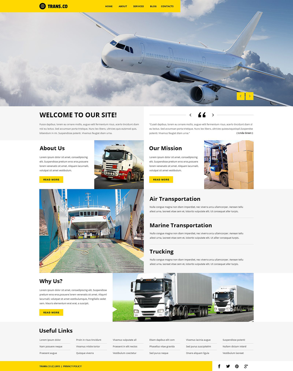 Transportation Services (WordPress theme) Item Picture