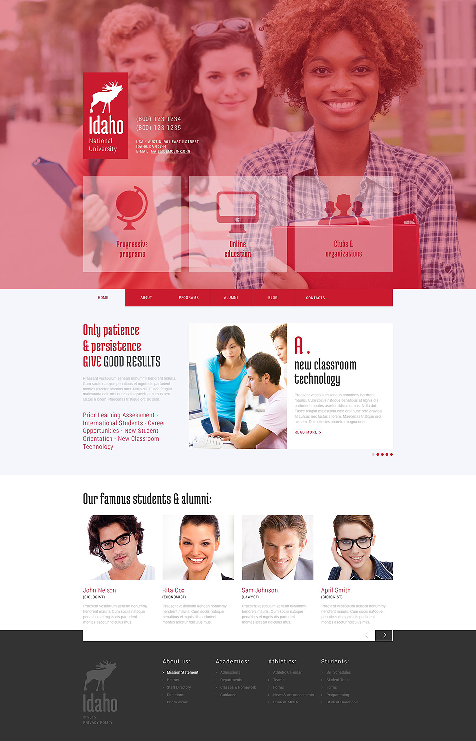 University Education (WordPress template) Item Picture