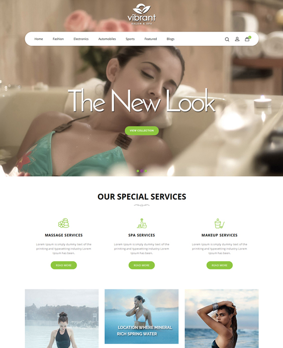OpenCart theme for selling makeup cosmetics and hair and beauty products