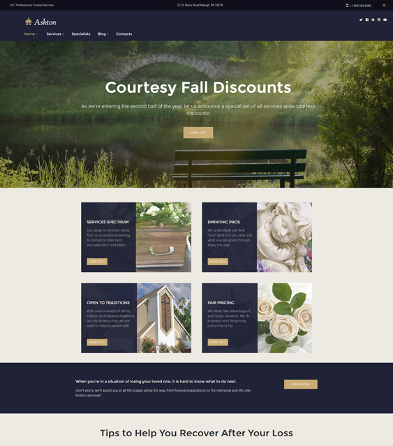 wordpress themes funeral services