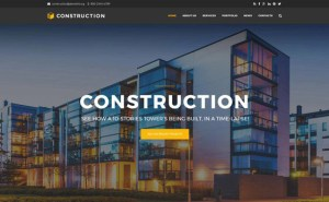 best drupal theme construction companies building contractors feature