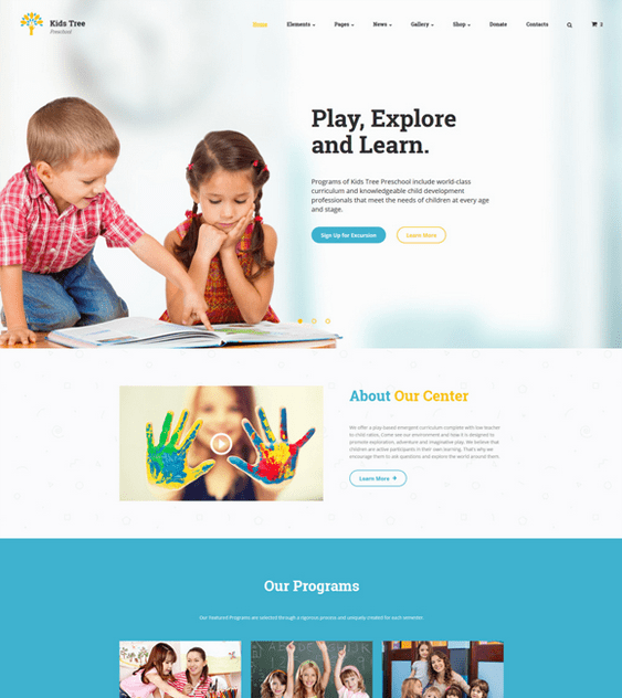 education bootstrap website templates daycare kindergarten elementary school websites