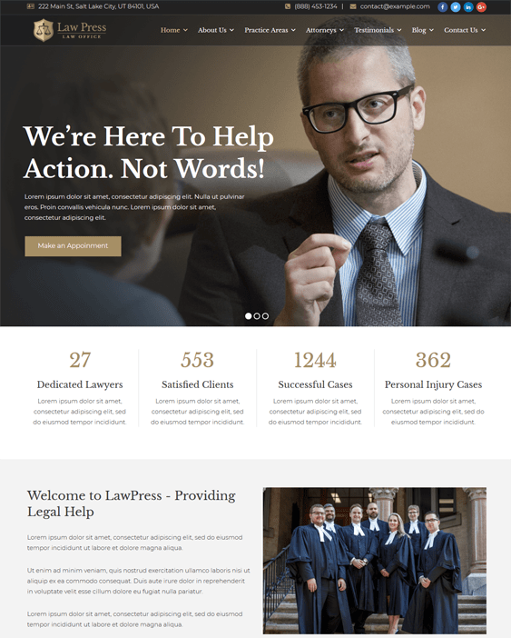 wordpress themes lawyers law firms attorneys