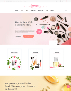 best woocommerce themes selling makeup cosmetics hair products perfumes feature