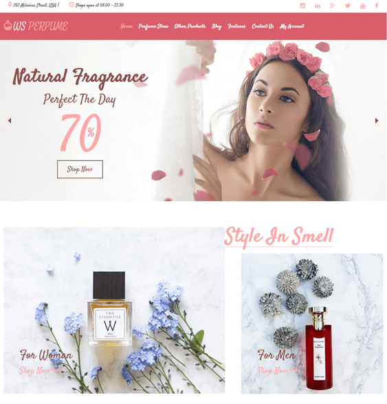 woocommerce themes selling cosmetics perfumes hair products makeup