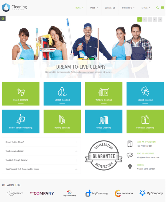 wordpress themes cleaning companies cleaners maids