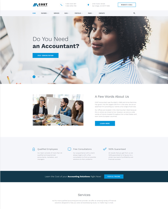 Of The Best Bootstrap Website Templates For Accountants - Tax website templates