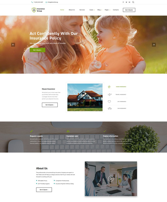 bootstrap website templates insurance company