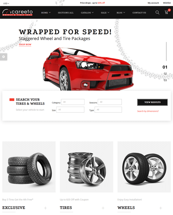 shopify themes car vehicle automotive stores