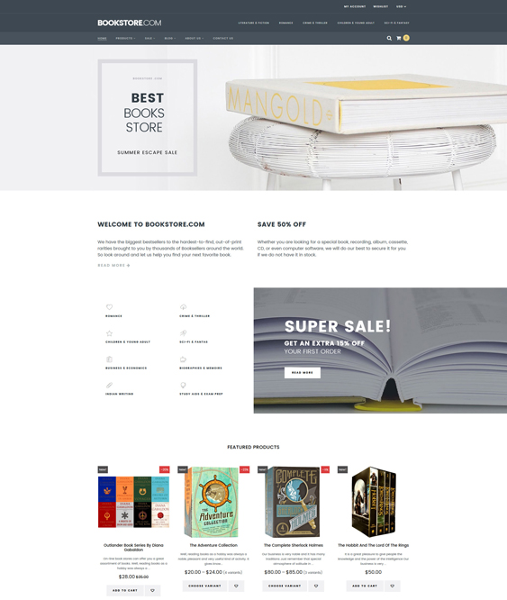 shopify themes bookstores books writers
