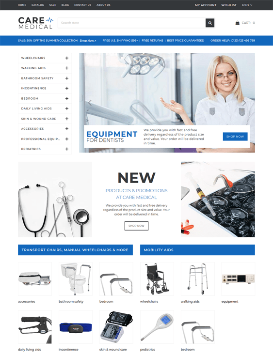 6 of the Best Medical Shopify Themes   Buildify