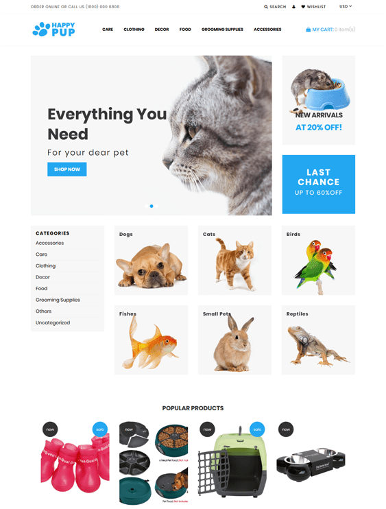 shopify themes for pet stores
