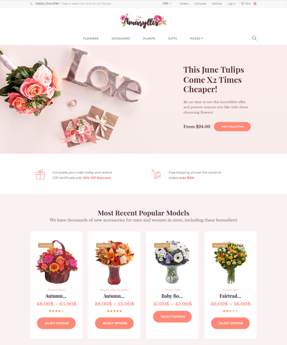 best woocommerce themes for florists flower shops feature