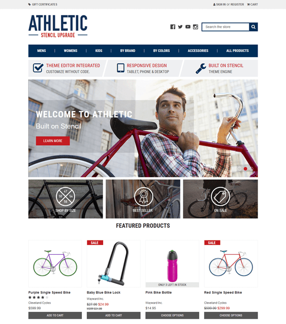 sports fitness bigcommerce themes