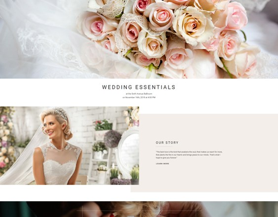 best bridal wedding joomla templates feature