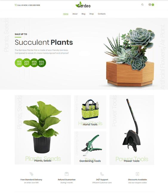 woocommerce themes for selling gardening and landscaping supplies