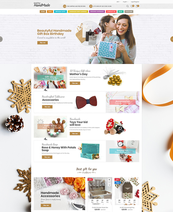 woocommerce themes for gift stores