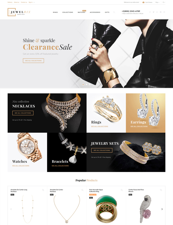 prestashop themes for jewelry stores