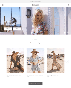 best shopify themes selling womens ladies clothing feature