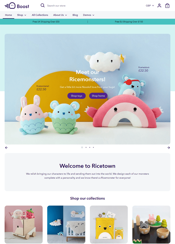 shopify themes for kids children babies
