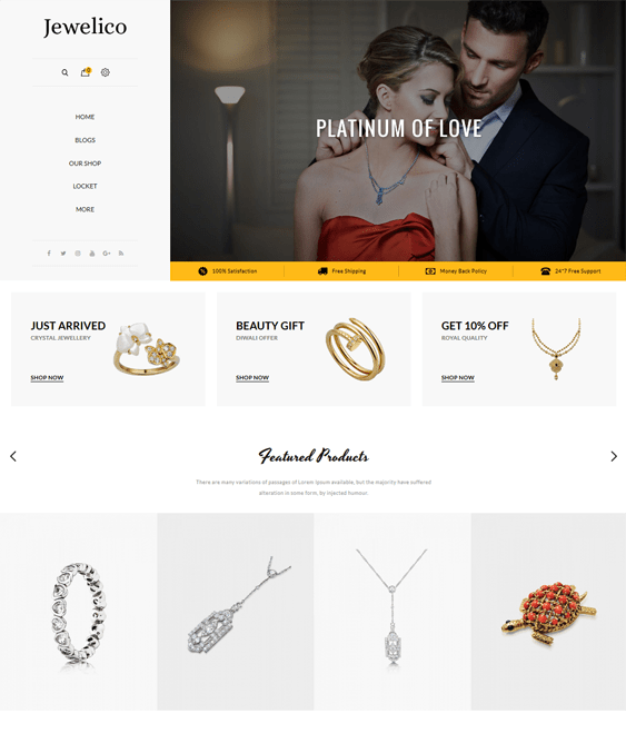 11 of the Best OpenCart Themes for Selling Jewelry & Watches