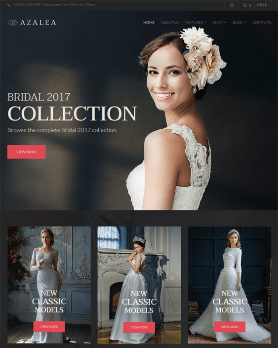 best woocommerce themes bridal wedding stores feature