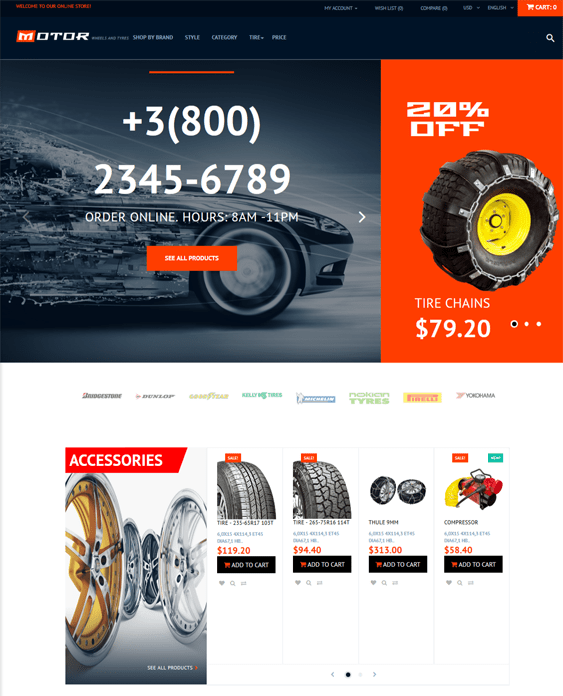 opencart themes automotive vehicle car stores