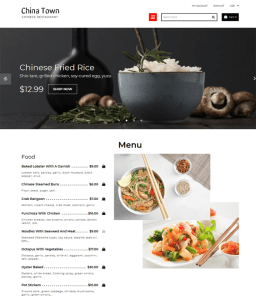 food restaurant shopify themes feature
