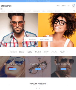 best prestashop themes selling sunglasses eyewear feature