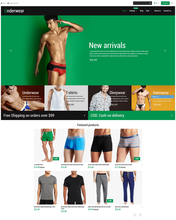 shopify themes lingerie underwear stores