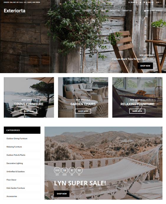 shopify themes for gardening stores