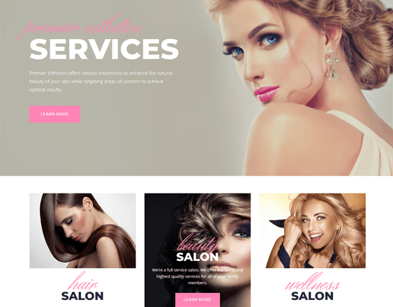 best wordpress themes for beauty hair salons feature