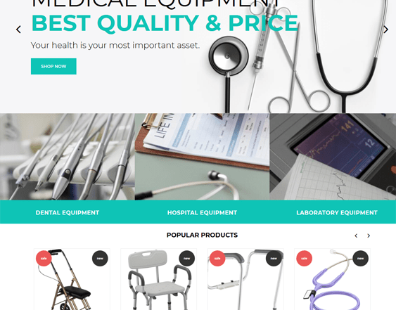 best medical shopify themes feature