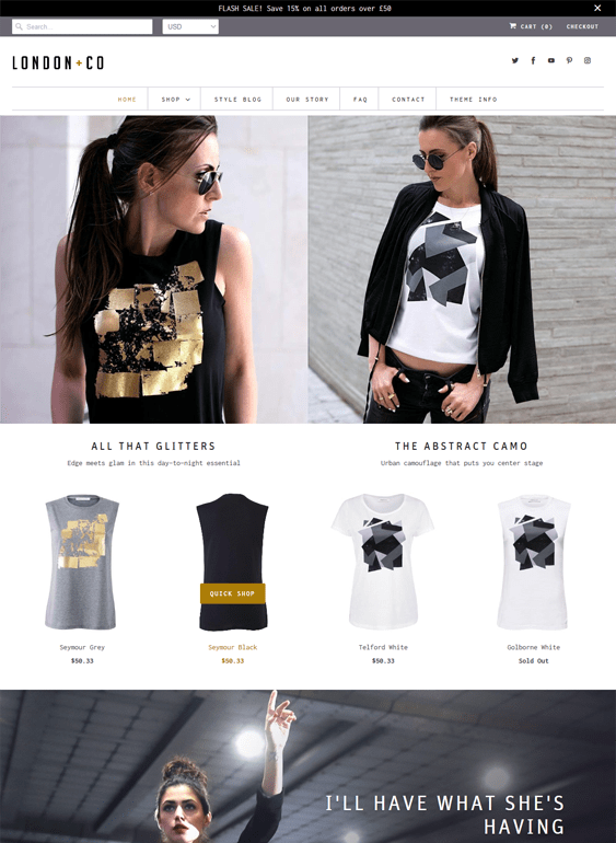 shopify themes for online t-shirt stores