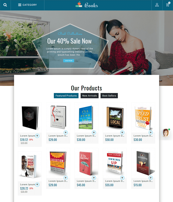 prestashop themes for book stores