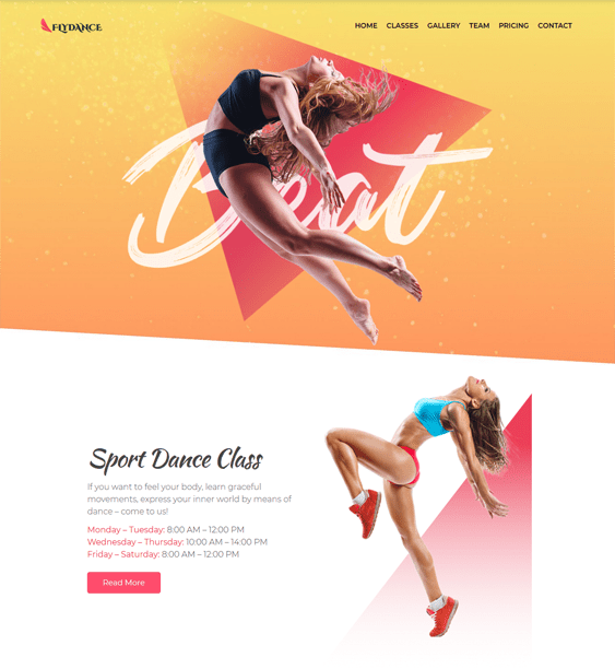 gym fitness wordpress themes