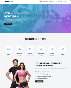 best gym fitness wordpress themes feature