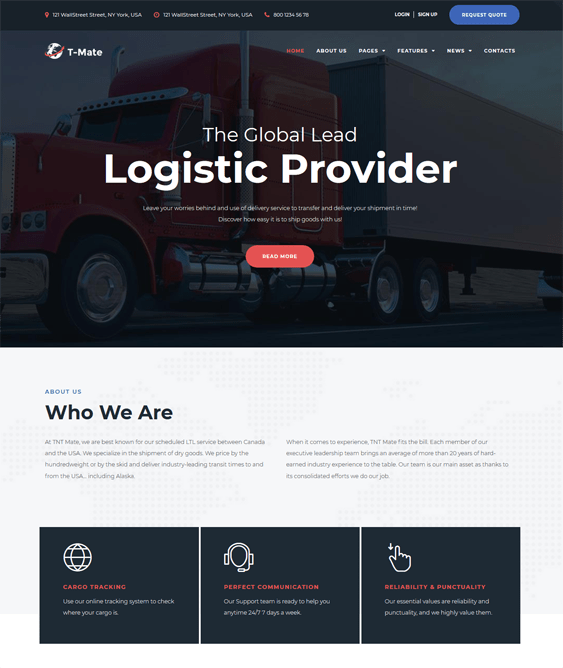 10 of the Best WordPress Theme for Logistics & Transportation