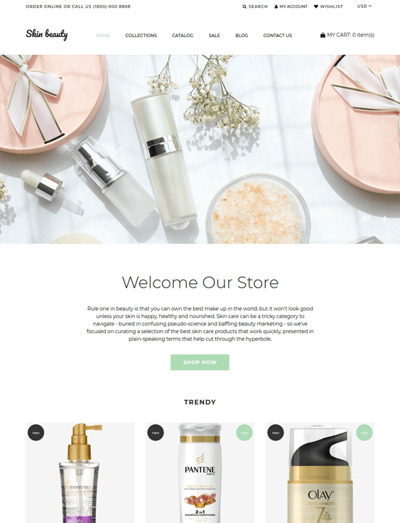 shopify themes for beauty products cosmetics