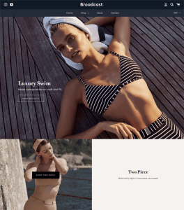 best shopify themes selling bikinis bathing suits swimwear feature