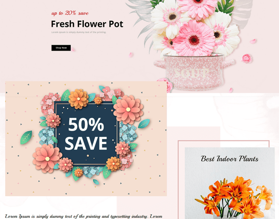 best opencart themes florists flower shops feature